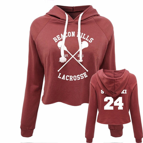 Sweat Teen Wolf Crop Top Beacon Hills 24