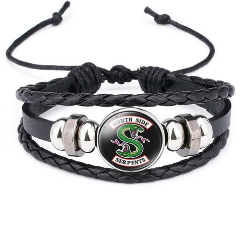 Bracelet Riverdale Noir South Side Serpents