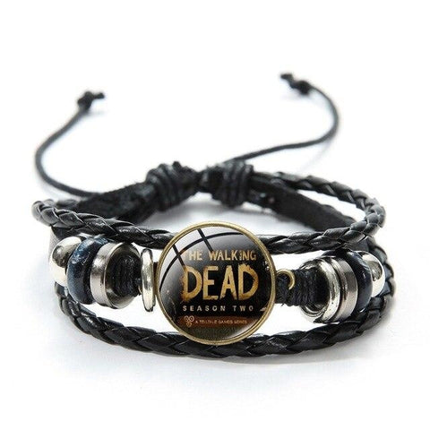 Bracelet The Walking Dead Noir Saison 2