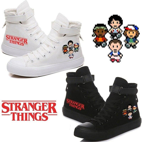 Chaussures montantes Stranger Things Sneakers Dessin Pixel