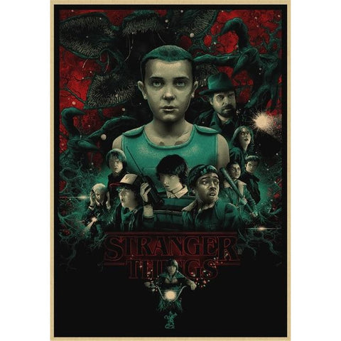 Poster Stranger Things Personnages - 30X21cm