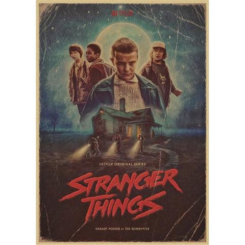 Poster Stranger Things Vintage Fan art - 30X21cm