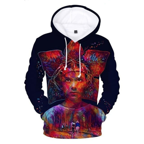 Sweat Stranger Things Onze Tête de Démogorgon - XS