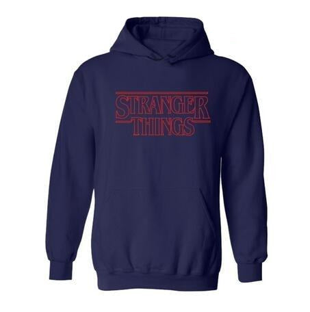Sweat Stranger Things Classique Bleu marine - 4XL