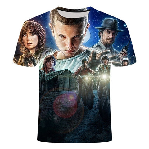 T-Shirt Stranger Things Personnages - Unisexe