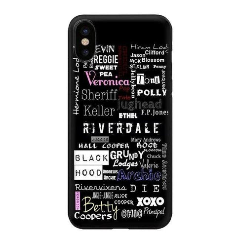 Coque iPhone Riverdale Ecritures - iPhone XR