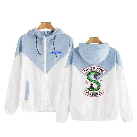 Blouson Riverdale South Side Serpents Bleu - Femme