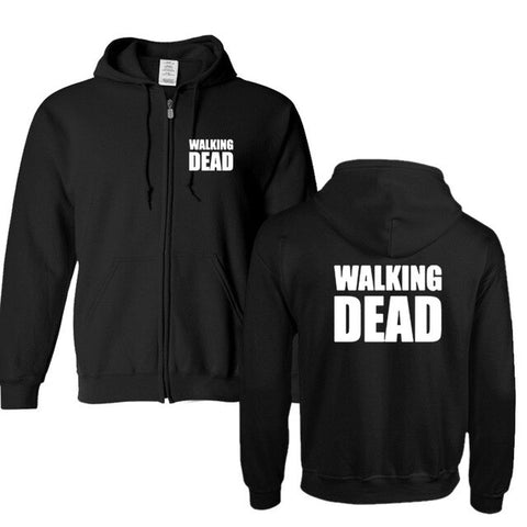 Sweat Zippé The Walking Dead Noir - Unisexe