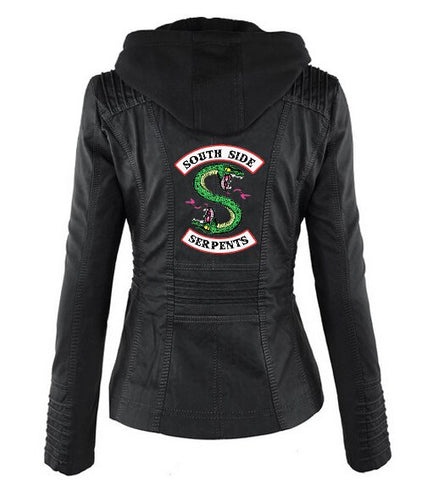Veste à capuche Noire Riverdale South Side Serpents - Femme - L