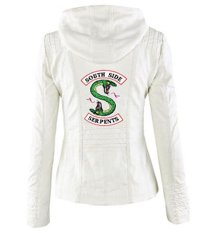 Veste à capuche Blanche Riverdale South Side Serpents - Femme - XXXL