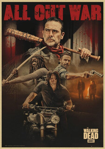 Poster The Walking Dead Negan & co - 42X30cm