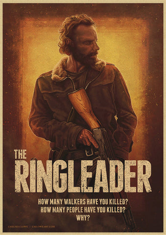 "Poster The Walking Dead ""Rick le leader"""