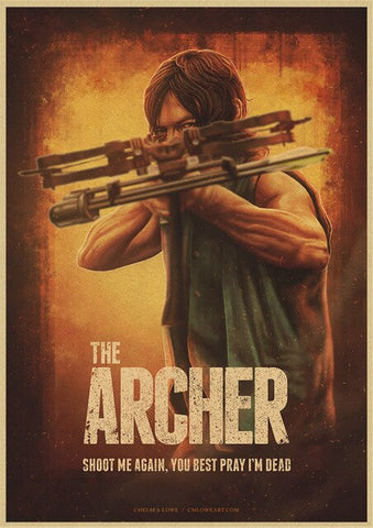 Poster The Walking Dead Daryl Dixon - 42X30cm