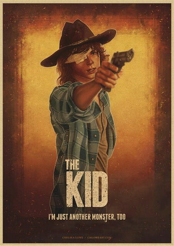 Poster The Walking Dead Carl Grimes - 42X30cm