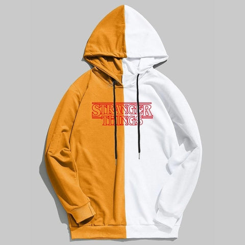 Sweat Stranger Things Orange & Blanc - 4Yellow / XXL