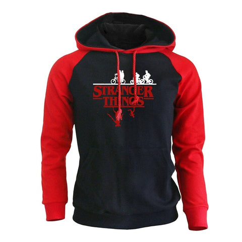 Sweat Stranger Things Sportswear Rouge & Noir - XXL