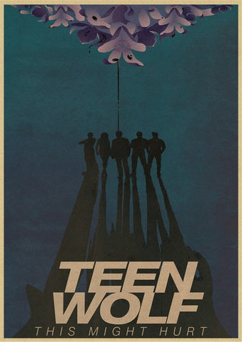 Poster Teen Wolf Ombres - 30x21cm