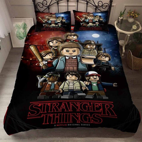 Housse de couette Stranger Things Lego - Color-3 / AU King(245x210cm)