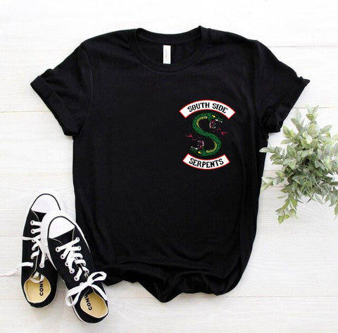 T-Shirt Riverdale Noir South Side Serpents - XL