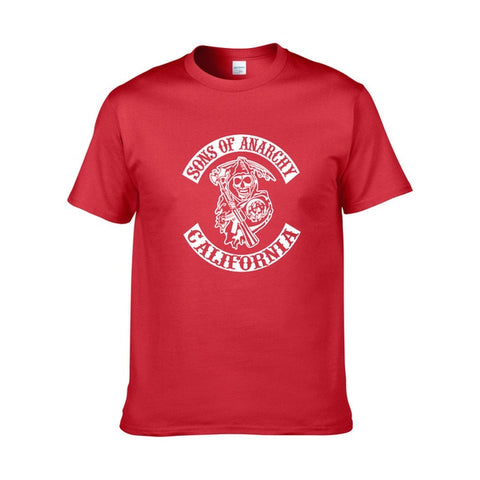 Tee Shirt Sons of Anarchy Rouge - red 1 / XS / Sons of Anarchy