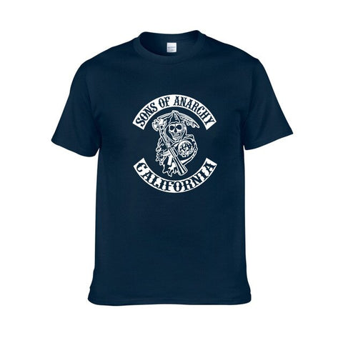 Tee Shirt Sons of Anarchy Bleu marine - blue 3 / XL / Sons of Anarchy