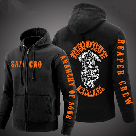 Sweat à capuche Sons of Anarchy Orange - 2 / 4XL / sons of anarchy, China