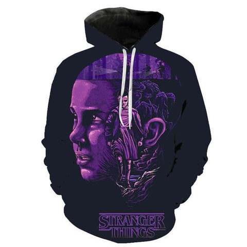 Sweat Stranger Things Onze Violet - XXS
