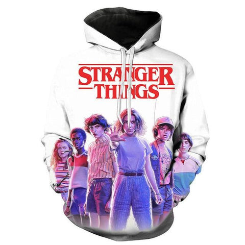Sweat Stranger Things Imprimé Blanc - XXS