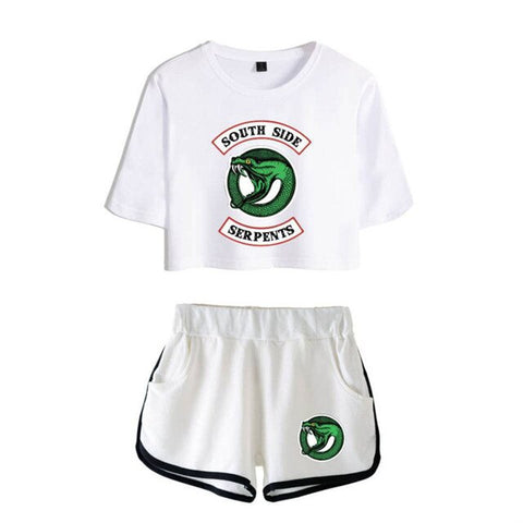 Ensemble Riverdale South Side Serpents Blanc - XS