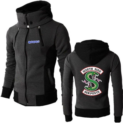 Sweat Riverdale Noir Col Montant South Side Serpents - Black / EU XXS Asia S