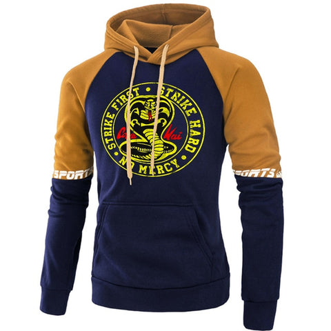 Sweat Cobra Kai Bleu marine & Marron - XL