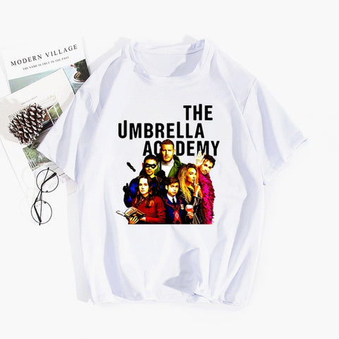 T-shirt The Umbrella Academy Personnages