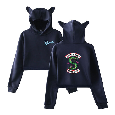 Sweat Riverdale Oreille de chat Bleu marine