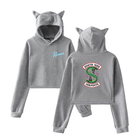 Sweat Riverdale Oreille de chat Gris