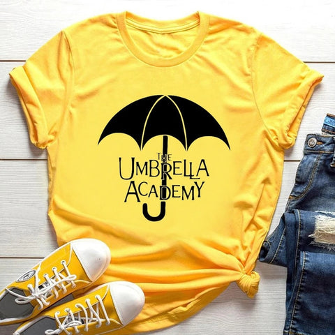 T-shirt The Umbrella Academy Parapluie Jaune