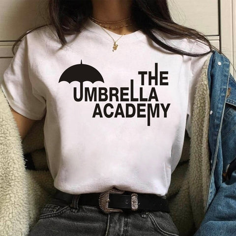 T-shirt The Umbrella Academy Blanc