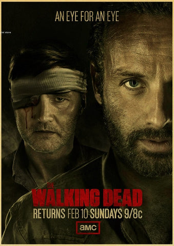 Poster The Walking Dead Rick et le Gouverneur