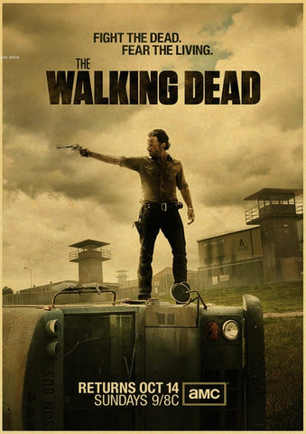 Poster The Walking Dead Rick sur le bus - 30x21 cm