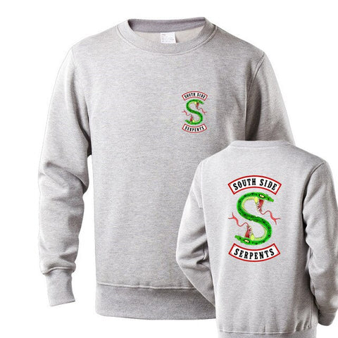 Sweat Riverdale South Side Serpents Gris - Homme