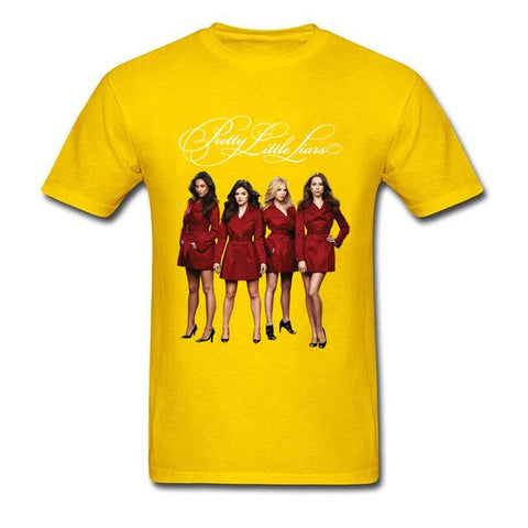 T-Shirt Pretty Little Liars Jaune - S