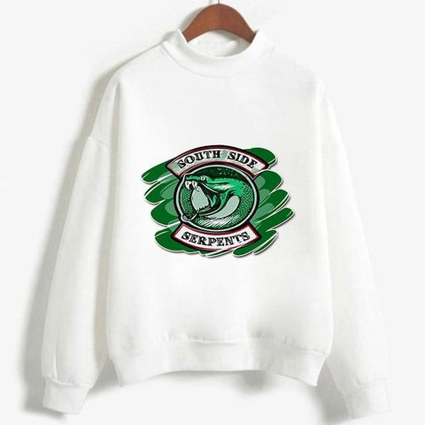 Pull Riverdale South Side Serpents Blanc - Femme - XL