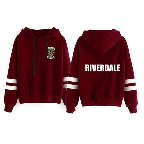 Sweat à capuche Riverdale Bordeaux - Unisexe - Rouge / S