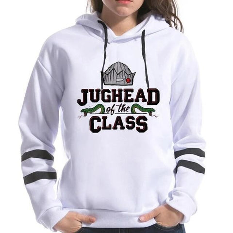 Sweat Riverdale Blanc Jughead of the Class - Femme - XXL
