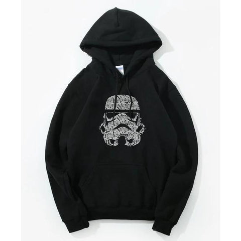 Sweat Star Wars Tête de Stormtrooper - Homme - Noir / S
