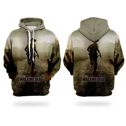 Sweat The Walking Dead Main de sang - Homme - 5XL