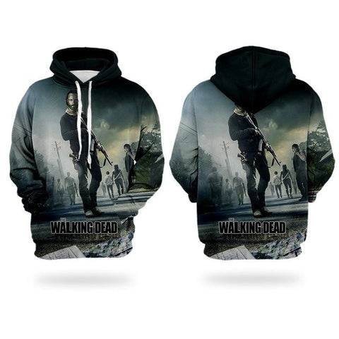 Sweat The Walking Dead Rick le combattant - Homme - S