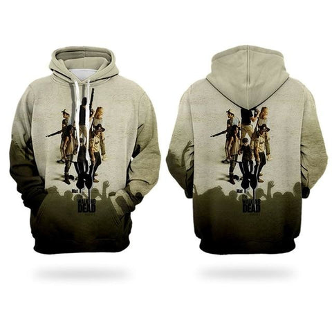 Sweat The Walking Dead seuls face aux zombies - Homme - XXL