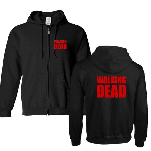 Sweat Zippé The Walking Dead Logo - Unisexe - Noir / L