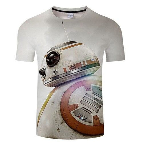 T-Shirt Blanc Star Wars BB-8 - Homme - XXXL