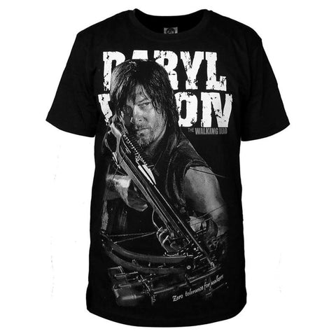 T-Shirt noir The Walking Dead Daryl Dixon - Homme